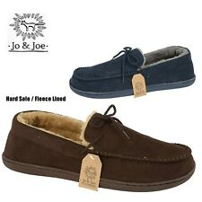 MENS SLIPPERS WINTER MOCCASIN FLEECE LINED OUTDOOR HOUSE SHOES WINTER WARM SIZE