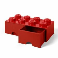 LEGO BRICK STORAGE BOX 8 KNOBS WITH 2 DRAWERS - RED - TOYS GAMES BOYS GIRLS