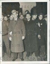 1939 Depression Era NYC Men in Line For Jobs Civil Service Com Press Photo