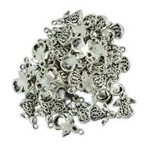 100 Stücke Tibetische Silber Engel mit Flügel Anhänger DIY Schmuck