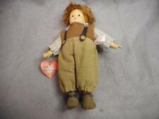 """VINTAGE  9 1/2"""" GERMAN DOLL """"HE PRASENT"""" """" TWO HEARTS"""" TAG BISQUE & CLOTH N/R"""