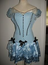 DISNEY Alice in Wonderland baby blue dress RUFFLE SKIRT costume adult large