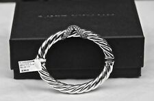 David Yurman Sterling Silver Starlight Cable Bracelet 1.321 TCW Diamonds New