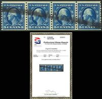 447, Used 5c Coil Strip of Four - VF & RARE - PSE Cert Cat $750.00 - Stuart Katz