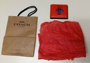 (COACH New York, Marvel) Men's 3-in-1 Spider-Man Leather Wallet; New!!!