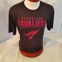 NBA Mens Cleveland Cavaliers T Shirt Large Black Red Eastern Conference