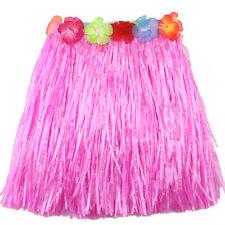 New Ladies Women Hawaii Fancy Dress Grass Skirt Hula Hawaiian Full WH