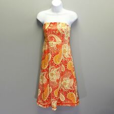 Moda International Size 6 Victoria's Secret Paisley Print Strapless Tie Back