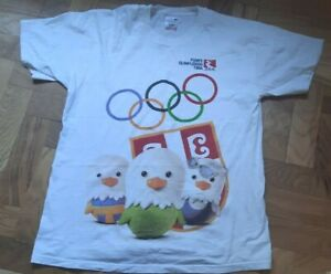 SERBIA SERBIAN OLYMPIC GAMES TEAM T SHIRT SPONSOR OLYMPICS CHICKEN LOGO