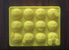 EMOJI FACE SILICONE CHOCOLATE CANDY SOAP MOLD EMOJI PARTY SUPPLIES