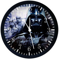 Star Wars Black Frame Wall Clock Nice For Decor or Gifts E448