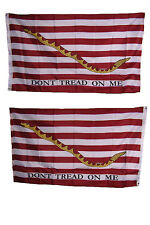 3x5 1st Navy Jack Gadsden Heavy Duty Polyester Nylon 200D Double Sided Flag