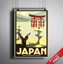 Grand Poster A3 Japon mur rétro Vintage Voyage Art Home Decor couleur brillant