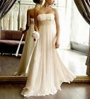 New Ivory/White Chiffon Strapless Wedding Dress Evening Bridal Gown Stock 6-16