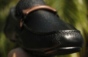 Salvatore Ferragamo  Man's black leather GRANPRIX  Drivers  Loafer Sze 13 D