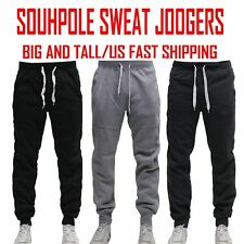 3XB Black Basic Tech Southpole Mens Fleece Jogger Pants-Reg and Big /& Tall Sizes