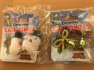 Novelty Christmas Earrings x 2 Pairs