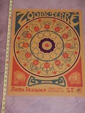 VINTAGE ORIGINAL 1960s ASTROLOGY ZODIAC POSTER BY TERRE'   HIPPY  PSYCHEDELIC