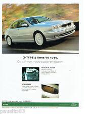 PUBLICITE ADVERTISING  026  2002  Jaguar  V6 X-Type 2l
