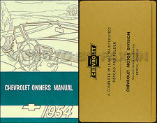 1954 Chevrolet Car Owners Manual Package 54 Chevy Owner 150 210 Bel Air Wagon