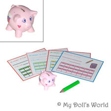 Piggy Bank Set - Accessories Fit American Girl Ruthie - Pig For 18 Inch Doll