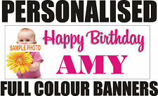 PERSONALISED PVC BIRTHDAY BANNERS 18TH 21ST 40TH 50TH 60TH WEDDING ENGAGEMENT