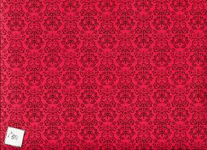 Renaissance black on red Jackson's Miniatures dollhouse wallpaper 1pc JM80