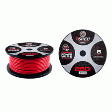 T-Spec V8PW-8RD250 V8 Series 8 Ga Power Wire 250 Feet Long Spool Solid Red Color