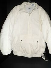Winter Jacket Ski Women's Off White SZ L 1/2 Zip Desperado Nylon Lightweight
