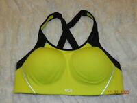 NEW Victoria/'s Secret VSX Sport Bright Yellow Angel Sport Bra 32A//36A