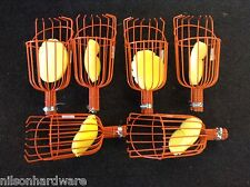 6 Fresh Fruit Picker Basket Orange Apple Plum Pear Vinyl Coated Wire Finger Pole