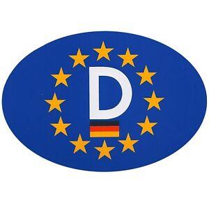 Zehn 10 Stück Europa D-Schild Euro D Schild 13 x 9 cm Auto Aufkleber von RICHTER