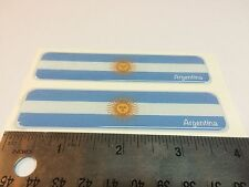 "Argentina Proud Flag Domed Decal Emblem Car Sticker 3D 4""x1"" Set of 2 Stickers"