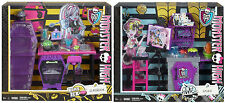 MONSTER HIGH PLAYSETS HOME ICK CLASSROOM ART CLASS STUDIO 2013 RETURED LOT OF 2