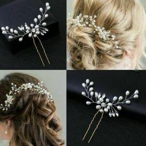 Wedding Accessories Flower Hair Pins Bridal Clips Bridesmaid Crystal Hair Pearls