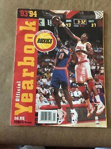 1993/94 Houston Rockets NBA Basketball Yearbook
