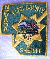 Patch- Elko County Nevada Sheriff US Police Patch (New*apx. 105x95 mm))