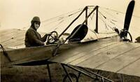 Early Aviation Mr Norman C Spratt In The Deperdussin Monoplane 6x4 PHOTO