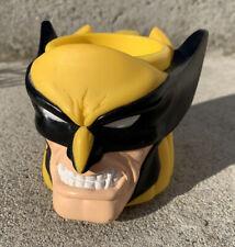New listing 1997 Applause Marvel Wolverine Plastic Figure Head Cup Mug Avengers Rare