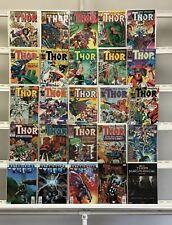 Thor Marvel  25 Lot Comic Book Comics Set Run Collection Box3