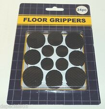 FLOOR PROTECTORS Apply On Glass Metal Plastic Wood 24 Pc NIP BLACK