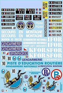 Französische Polizei France Gendamerie Nationale 1:18 Decal Abziehbilder