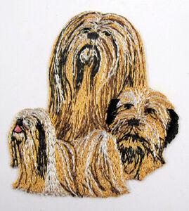 Llasa Apso dog heat seal embroidered badge