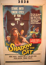 The Shadow of the Cat Original 1sh Movie Poster 1961 sexy Barbara Shelley