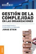 Gestion de La Complejidad En Las Organizaciones (Paperback or Softback)