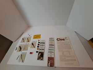 Vintage 1972 Clue Board Game Parker Brothers Detective Game **Misc Pieces**