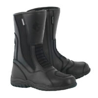 Oxford Tracker Black Motorcycle Motorbike Waterproof Leather Boots Sizes 8-11