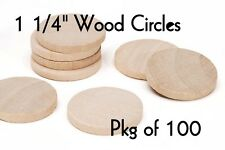 LOT of 100 ~ 1 1/4 Inch Wood Circle ~ Craft Disk ~ Pendants & Magnets ~ by PLD