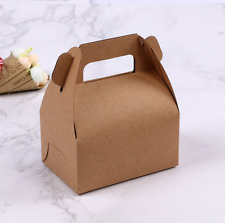 100x kraft paper boxes handle wedding birthday anniversary party favours bakery