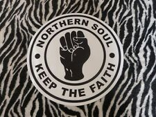 NORTHERN SOUL - KEEP THE FAITH   TURNTABLE (RECORD PLAYER)  SLIPMAT.